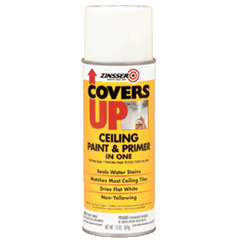 Covers Up Ceiling Paint & Primer In One