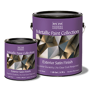 Metallic Paint Collection - Exterior Satin Finish